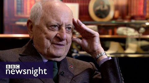 BBC Newsnight – Yves Saint Laurent's Pierre Berge on fashion, art and politics